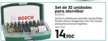 Oferta de Herramientas de mano Bosch por 14.95€