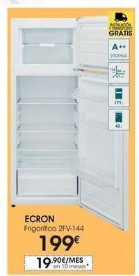 Oferta de Ecron frigorífico 2FV-144 por 199€