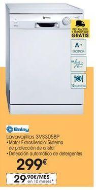 Oferta de Balay lavavajillas   3VS305BP por 299€