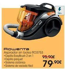 Oferta de  Rowenta aspirador sin bolsa RO3753 por 79.9€