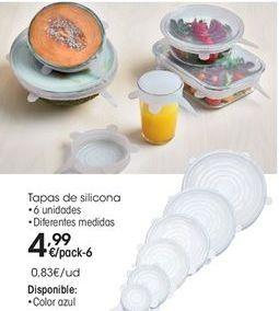 Oferta de Tapas de silicona 6 unidades por 4.99€