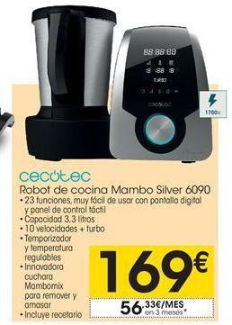 Oferta de Cecotec robot de cocina  Mambo Silver 6090º por 169€