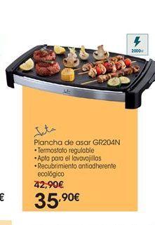 Oferta de  Jata plancha de asar GR204N por 35.9€