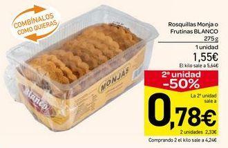Oferta de Rosquillas monja o frutinas Blanco por 1.55€