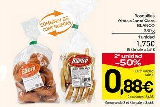 Oferta de Rosquillas fritas o santa clara Blanco por 1.75€