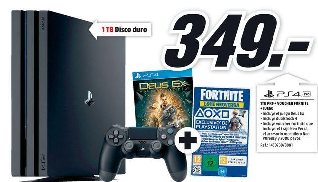 Oferta de PS4 Sony por 349€