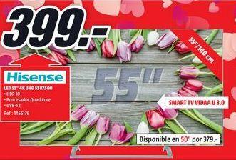 Oferta de Tv led 55'' Hisense por 399€