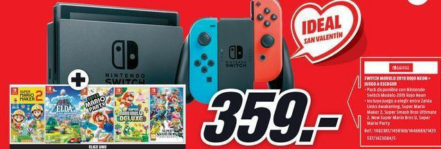 Oferta de Nintendo Switch por 359€