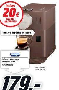 Oferta de Cafetera nespresso DeLonghi por 179€