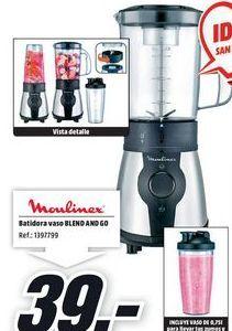 Oferta de Batidora de vaso Moulinex por 39€