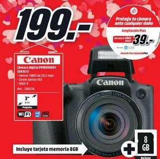Oferta de Cámara de fotos Canon por 199€
