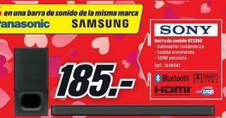 Oferta de Barra de sonido Sony por 185€