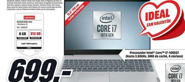 Oferta de Ordenador portátil Lenovo por 699€