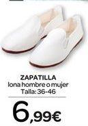 Oferta de Zapatilla lona hombre o mujer  por 6.99€
