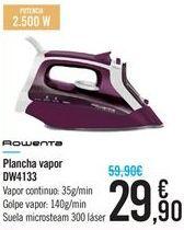 Oferta de Plancha vapor Rowenta por 29.9€