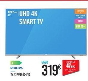 Oferta de Smart tv Philips por 319€