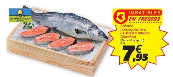 Oferta de Salmón noruego carrefour por 7.95€