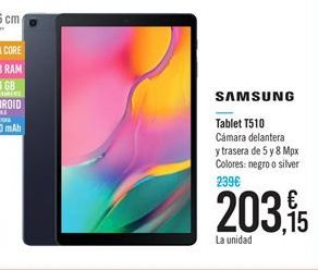 Oferta de Tablet Samsung por 203.15€