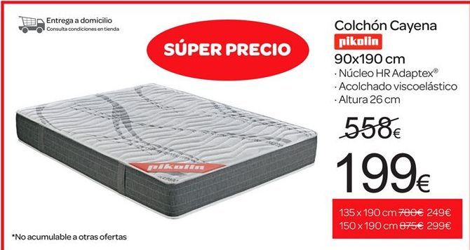 Oferta de Colchones cayena Pikolin por 199€