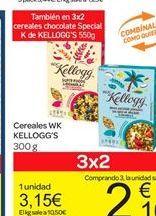 Oferta de Cereales WK Kellogg's por 3.15€