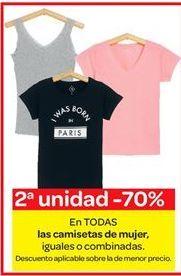 Oferta de Camisetas de  mujer por
