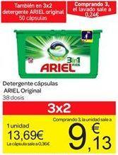 Oferta de Detergente en cápsulas Ariel original por 13.69€