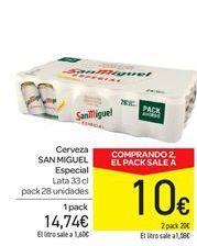Oferta de Cerveza San Miguel especial por 14.74€