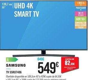 Oferta de Smart tv Samsung por 549€