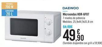 Oferta de Microondas Daewoo por 49.9€