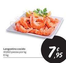 Oferta de Langostinos cocidos por 7.95€