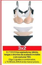 Oferta de Sujetadores, bikinis, tangas o shorties de acabado invisible o sin texturas TEX por