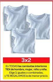 Oferta de Camiseta interior de hombre, mujer, niño o niña TEX por