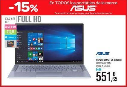 Oferta de Portátil Asus  por 551.65€