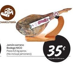 Oferta de Jamón serrano Bodega NICO por 35€