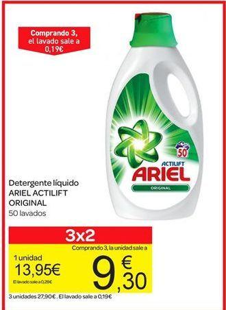 Oferta de Detergente líquido Ariel Actilift original por 13.95€