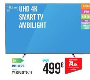 Oferta de Smart tv Philips por 499€