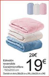 Oferta de Edredón reversible coral/microfibra por 19€