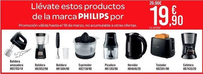 Oferta de Electrodómesticos de cocina Philips por 19.9€