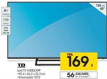Oferta de Tv led 40'' Td systems por 169€