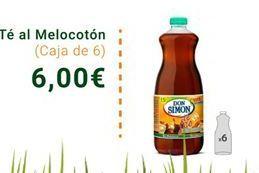 Oferta de Té al Melocotón caja de 6 por 6€