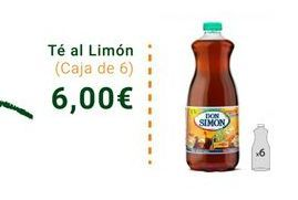 Oferta de Te al limón - Caja de 6  por 6€