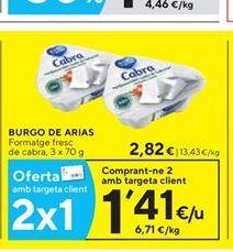 Oferta de Queso fresco Burgo de Arias por 2.82€