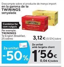 Oferta de Infusiones Twinings por 3.12€