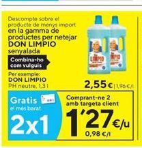 Oferta de Limpiadores Don Limpio por 2.55€
