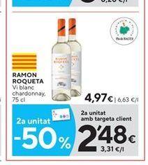Oferta de Vino blanco Ramón Roqueta por 4.97€