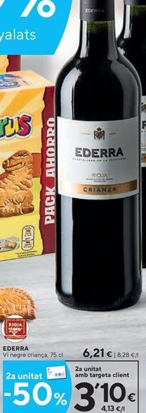 Oferta de Vino tinto Ederra por 6.21€