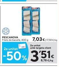 Oferta de Filetes de bacalao Pescanova por 7.03€