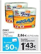 Oferta de Papel higiénico Foxy por 2.86€