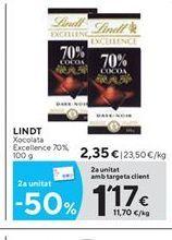 Oferta de Chocolate Lindt por 2.35€