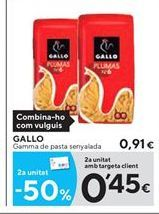 Oferta de Pasta Gallo por 0.91€